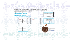 GRÁFICA DE UNA FUNCIÓN LINEAL