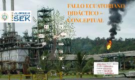 FALLO ECUATORIANO DIDÁCTICO – CONCEPTUAL