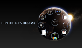 Copy of CUBO DE LEDS DE 5X5X