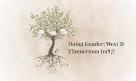 Doing Gender: West & Zimmerman (1987)