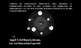 """""""EMPLEO DE ESTRATEGIAS DIDÁCTICAS PARA MEJORAR LA COMPRENSIÓ"""