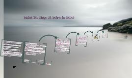 BADM 351 Chap. 20 Intro to Sales