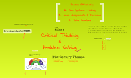 Session 1 - Critical Thinking