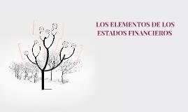 LOS ELEMENTOS DE LOS ESTADOS FINANCIEROS