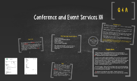 Conference and Event Services 101
