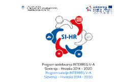 Program sodelovanja INTERREG V-ASlovenija – Hrvaška 2014 –