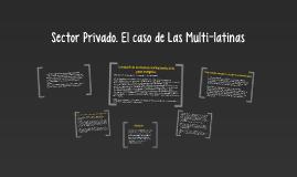 Sector Privado. El caso de Las Multi-latinas