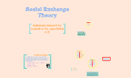 Copy of Social Exchange Theory