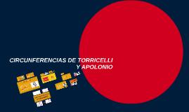 CIRCUNFERENCIAS DE TORRICELLI Y APOLONIO