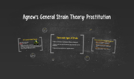 General Strain Theory: Prostitution