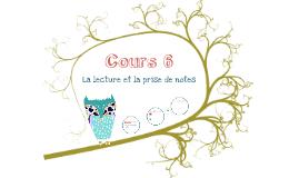 AppEff - Cours 6, Lecture et prise de notes