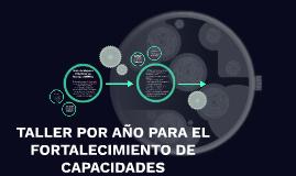 TALLER POR AÑO PARA EL FORTALECIMIENTO DE CAPACIDADES