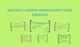 Drafting a Working Argumentative Thesis Statement