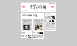 Assignment 18 - Compare and Contrast: The 1920's to Today