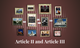 Article II and Article III
