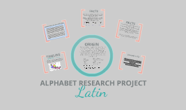MAJOR ALPHABETS RESEARCH PROJECT