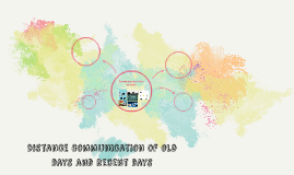 Distance communication of old days and recent days