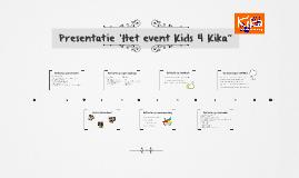 """Presentatie 'Het event Kids 4 Kika"""""""