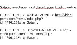 Satanic anschauen und downloaden kinofilm online