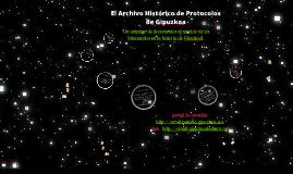 Presentación - Archivo Histórico de Protocolos de Gipuzkoa