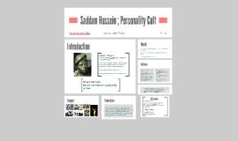 Saddam Hussein ; Personality Cult