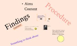 Milgram (1963) Study of Obedience