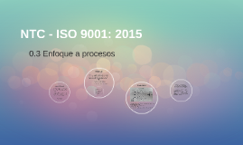 NTC - ISO 9001: 2015