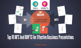 Top 10 DO'S And DON'TS For Effective Bussiness Presentations