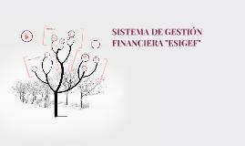 """SISTEMA DE GESTIÓN FINANCIERA """"ESIGEF"""""""