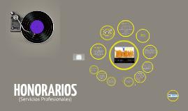 HONORARIOS SERVICIOS PROFESIONALES 2014