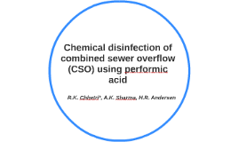 Chemical disinfection of combined sewer overflow (CSO) using