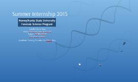 Summer Internship 2015