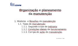 01 Organização e planeamento da manutenção