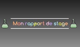 Mon rapport de stage