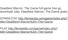 Deadliest Warrior: The Game full game free pc, download, pla