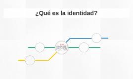 ¿Qué es la identidad?