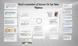 Copy of Rizal's annotation of Sucesos De Las Islas Filipinas