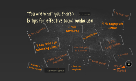 "Sanction ""You are what you share"" social media presentation"
