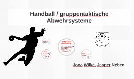 Handball / gruppenspezifische Abwehrsysteme