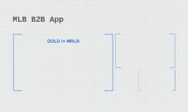 MLB B2B App