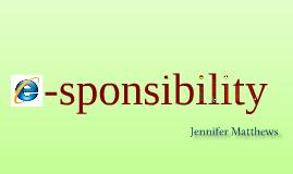 E-sponsibility