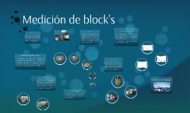 medicion de blocks