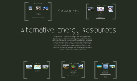 Alternative Energy Resources