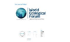 World Ecological Forum speaker package