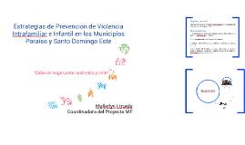 Estrategias de Prevención de Violencia Intrafamiliar e Infan