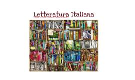 Letteratura Italiana 1