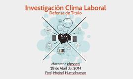 Investigación Clima Laboral