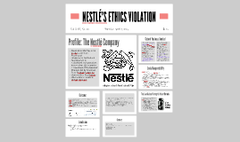 NESTLÉ ETHICS VIOLATION