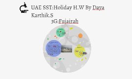 UAE Social Studies:Holiday H.W