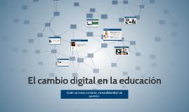 El cambio digital en la educación